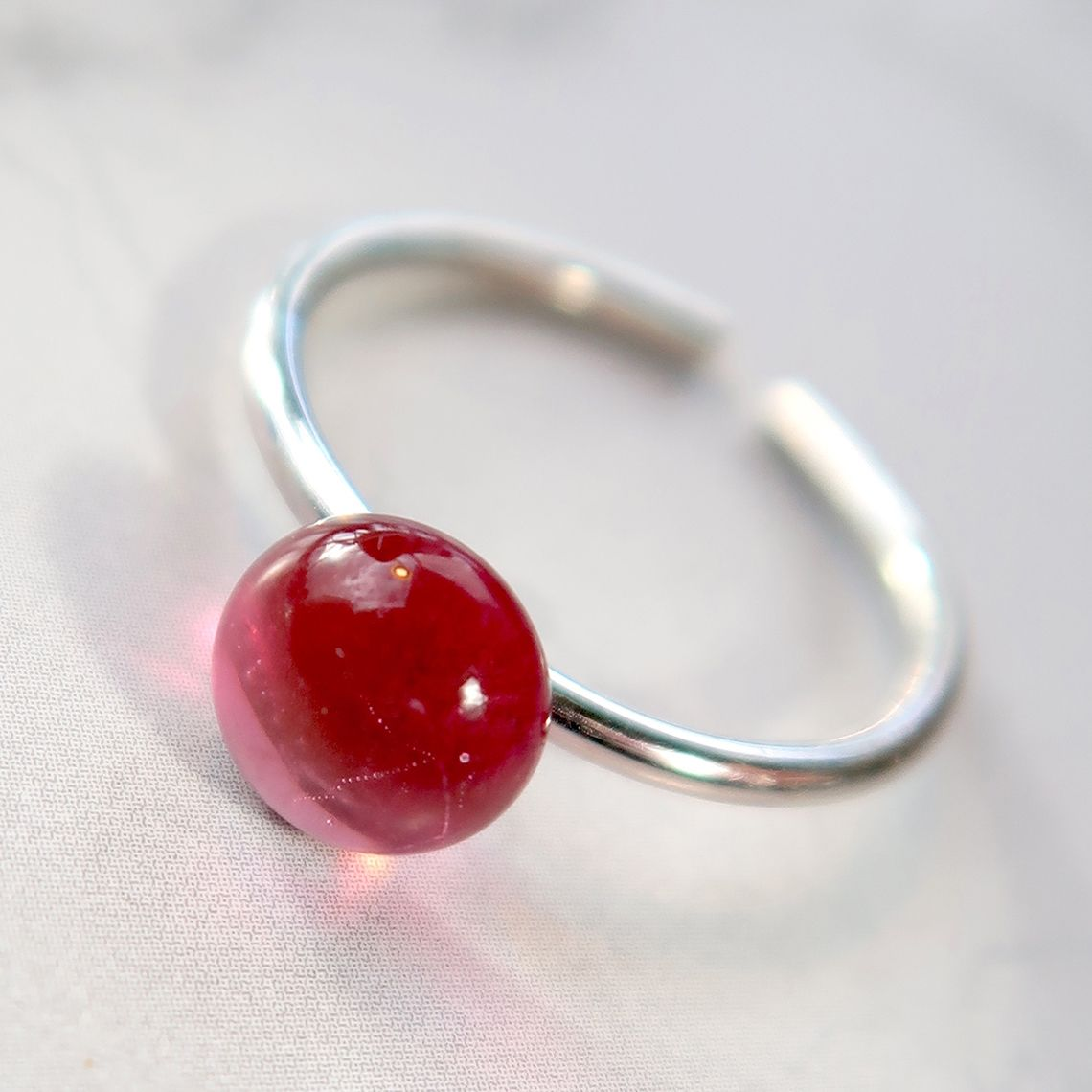 Limpid Ring button Fushia