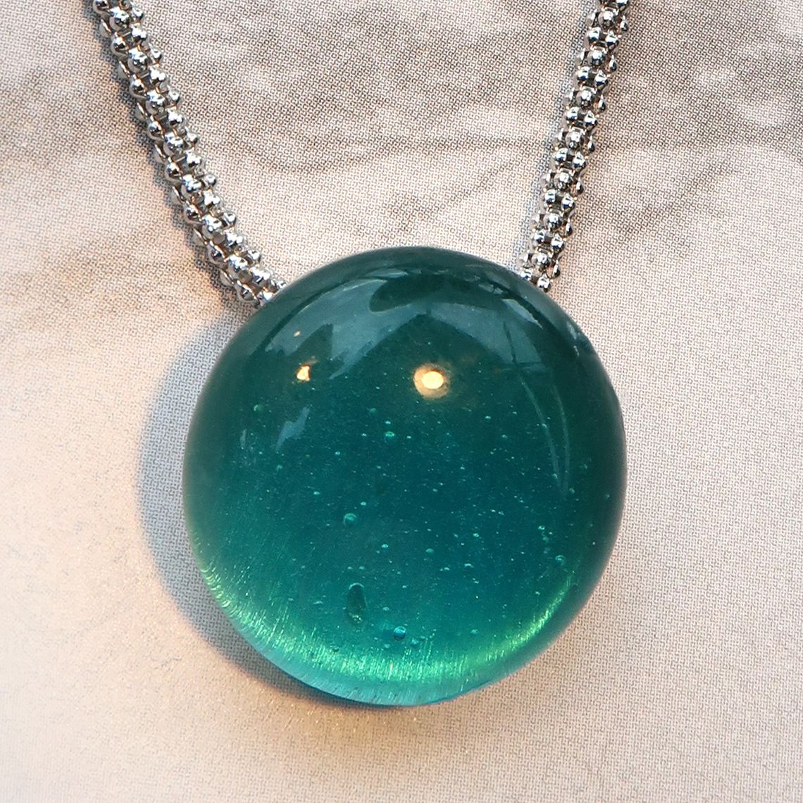 Limpid necklace drop L Ocean